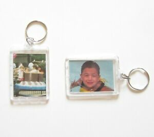 30 PHOTO FRAME KEYCHAINS KEY CHAIN CLEAR TRANSPARENT PICTURE FRAME