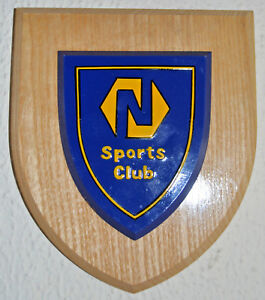 Northern Bank Sports Club plaque shield crest coat of arms Ulster banking