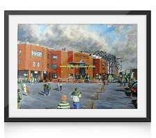 Celtic Park Stadium Art (2) A4 Framed Print - Celtic FC