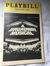 A Broadway Musical Playbill 1970s Lunt- Fontanne Theatre Used Condition