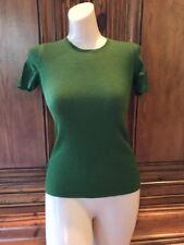 EUC PRADA Women's Cashmere Silk Knit Blouse Shirt Green Milano HTF