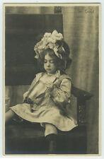 c 1902 Vintage Children Child GIRL FASHION undivided back photo postcard