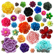 Assorted Bag Flower Mix -  Resin Flatback Cabochons Embellishments Card Craft