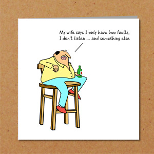 FUNNY BIRTHDAY Card for Husband, Dad or any man - humorous humour typical male