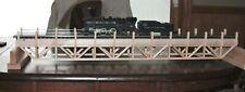 "S Gauge handmade  hardwood deck bridge 36"" long w/SS guard rails for Am. Flyer"