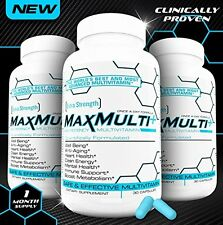 MaxMulti Best Liquid Cap Multivitamin Supplement Minerals-Herbal Blend/Superfood