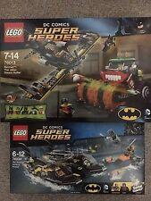 NEW LEGO Batman:The Joker Steam Roller 76013 & The Batboat Harbor Pursuit 76034