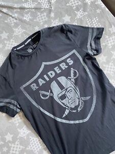 Mens Oakland Raiders NFL T-Shirt, Short Sleeves, Black, Size Medium