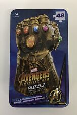 New Marvel Avengers Infinity War 48-Piece Puzzle In Metal Tin