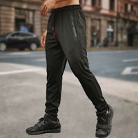 Mens Sport Pants Pocket Trousers Tracksuit Fitness Workout Joggers Gym Sweatpant