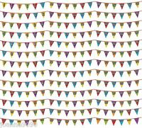 8m Birthday Celebration Party Partyware Garland Holographic Bunting Decoration