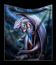 Couvre-lit avec dragon - Mage - Anne Stokes FANTASIE DOUX canapé-couverture