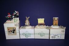 Charming Tails Lot of 4- Airmail, Mail Mouse, Mail Box & Bench In Boxes w/Tags