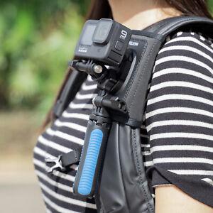 TELESIN Bag Backpack Shoulder Strap Mount For GoPro Hero 9 8 7 6 5 Osmo Action