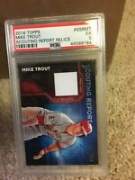 2016 Topps Scouting Report Relics Ssrmt Mike Trout [PSA 5] pop 1, 0 higher