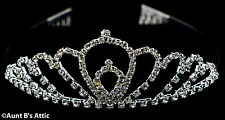 Tiara Metal & Rhinestone Silver Princess,Queen Or Debutante Costume Headpiece