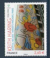 TIMBRE 4901 NEUF XX LUXE - KEITH HARING - FRESQUE DE L'HOPITAL NECKER A PARIS