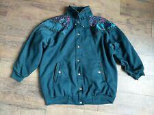 Vintage CS Classic Women's Jacket Reversible Outerwear Coat Green Large