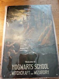 Harry Potter ~Hogwarts School~  Tin Sign~  300x200 ~pre holed ~New