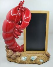 Sonoma Life and Style Coastal Collection Red Lobster with Menu Chalk Board