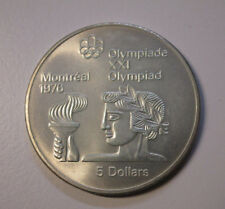 5 Dollars 1976 Montreal Olympia Athlet mit Fackel