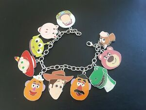 TOY STORY THEMED CHARMS BRACELET with x10 charms Christmas 994