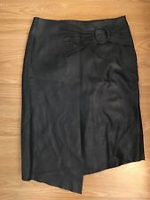 Mango Real leather Skirt
