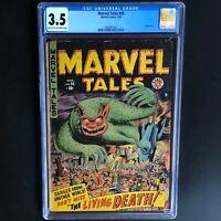 MARVEL TALES #95 (1950) 💥 CGC 3.5 💥 Classic Pre-Hero Monster Cover! RARE