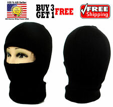 BLACK ONE 1 HOLE FACE MASK WINTER THERMAL WARM KNIT LONG BEANIE SKI BALACLAVA