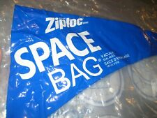 Lot of 5 LARGE Dual Use ZIPLOC SPACE BAG Vacuum Seal Each Fits 10 Sweaters 21X33