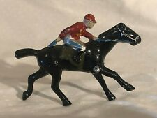 Cast Toy Race Horse and Jockey Rare