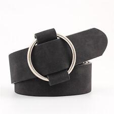 Ladies Girls Wide Waist Belt Dress PU Leather Buckle Belts Waistband-No Needle