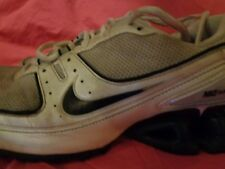 Nike Impax White, Silver & Blue Trainers *Size 9 UK* Good Condition L@@k !!!!