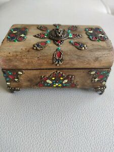Handmade small jewellery wooden box