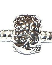 NEW Antique Silver Ornate Spacer Charm Bead fits European Bracelet Necklace