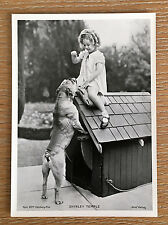 "Shirley Temple 1937 Union Dresden Film Star Series 10 5""X7"" Cigarette Photo Card"