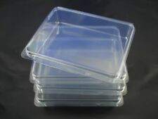 4 NEW Clear Plastic Storage Cases Medium 5x4 - Rubber Stamps, Crafts, Hardware