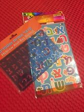 Hebrew Alef Bet Stencil + Hebrew Letters Stickers ( 8 Sheets In Pack) New