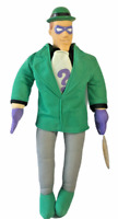 "Vintage Riddler Plush Batman Play by Play Animated Series 1999 HARD HEAD 14"""