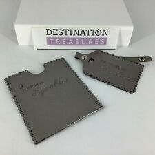 Swarovski Event Gift Faux Leather Passport Case Holder & Luggage Tag