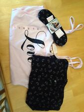 VICTORIA'S SECRET PINK Love  Tank With Leggings Pajamas New X Small Bonus Mask!