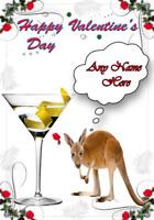 Kangaroo tv158 Fun Cute valentines Day Card A5 Personalised Greetings