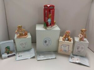 Bundle 5 Collectable Cherished Teddies Figurines in Boxes  Z1