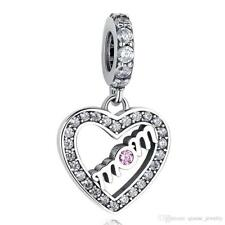 Beautiful Authentic Pandora MOM -Charm 100% S925 Sterling Silver