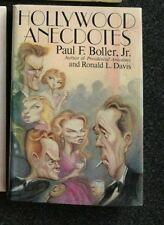 Hollywood Anecdotes by Paul F. Boller Jr. & Ronald L. Davis 1987 HCDJ Free Ship