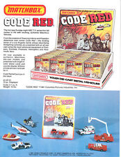 "Matchbox original promo sheet ""Code Red"" Series 1981"