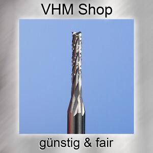 10 Stück Spiralverzahnte VHM Fräser,HM Schaftfräser,Dremel,Durchmesser 0,8 mm
