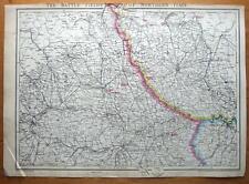 BATTLEFIELDS OF N.ITALY, MILANO, TORINO,VERCELLI etc J.Dower antique map c1860