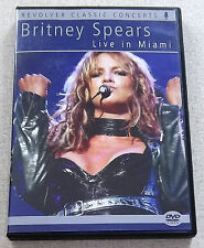 BRITNEY SPEARS Live In Miami DVD PAL Region Free SOUTH AFRICA Ca# REVDVD575