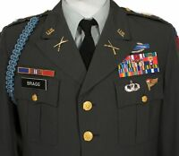 ARMY CLASS A 491 GREEN DRESS JACKET AIRBORNE PATCH 40R PARADE DRESS COAT